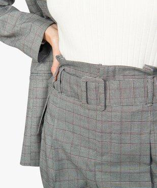 Pantalon femme Prince de Galles à taille haute vue2 - Nikesneakers(FEMME PAP) - Nikesneakers