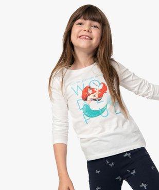 Tee-shirt fille à manches longues avec motif pailleté - Disney vue1 - DISNEY DTR - GEMO