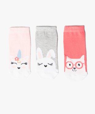 Chaussettes fille ultra-courtes imprimé fantaisie (lot de 3) vue1 - GEMO (ENFANT) - GEMO