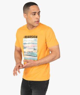Tee-shirt homme à manches courtes imprimé nature - Roadsign vue1 - ROADSIGN - GEMO