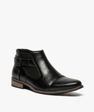 Boots homme fermeture zippée avec bloucle sur le côté vue2 - GEMO (HOMME) - GEMO