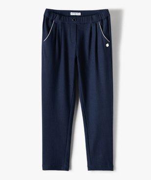 Pantalon fille en maille extensible avec liserés pailletés - Lulu Castagnette vue2 - LULUCASTAGNETTE - Nikesneakers