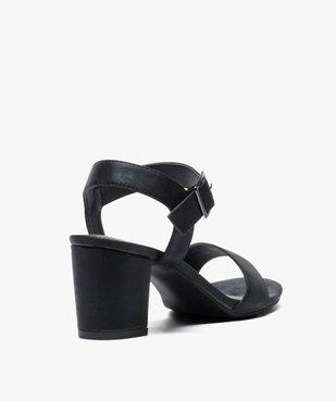 Sandales femme à talon et larges brides vue4 - GEMO(URBAIN) - GEMO