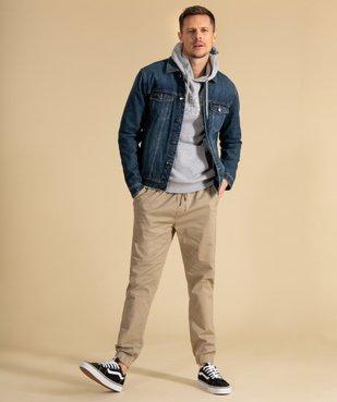 Blouson homme en jean coupe droite vue1 - GEMO (HOMME) - GEMO
