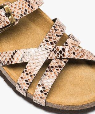 Sandales femme à brides croisées vue6 - GEMO (CASUAL) - GEMO