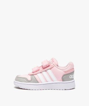 Baskets bébé fille multicolores à scratch – Adidas Hoops vue3 - ADIDAS - Nikesneakers