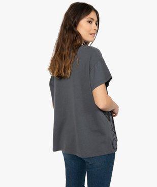 Tee-shirt femme avec motif femme - Disney vue3 - DISNEY DTR - GEMO