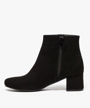 Boots femme à petit talon avec zip décoratif sur le côté vue3 - GEMO(URBAIN) - GEMO
