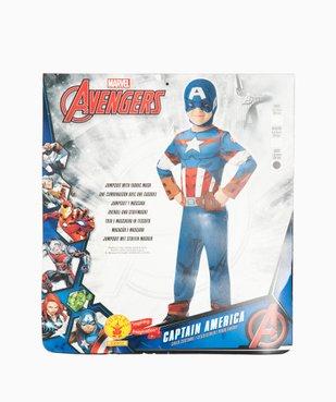Déguisement enfant Captain America - Marvel (2 pièces : costume + cagoule masque) vue4 - MARVEL - GEMO