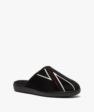 Chaussons homme mules à surpiqûres contrastantes vue2 - Nikesneakers(HOMWR HOM) - Nikesneakers