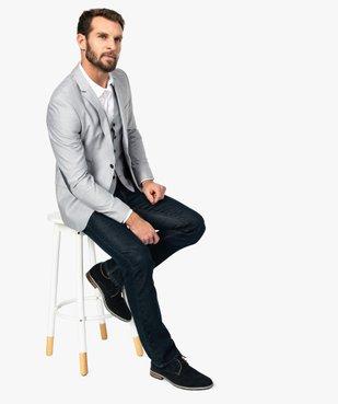 Veste de costume homme avec coudières contrastantes vue5 - GEMO (HOMME) - GEMO