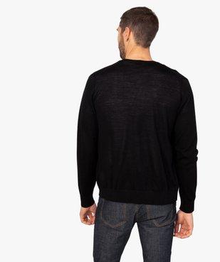Gilet homme en laine fine Mérinos vue3 - GEMO (HOMME) - GEMO