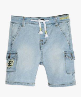 Bermuda bébé garçon en jean - Lulu Castagnette vue1 - LULUCASTAGNETTE - GEMO