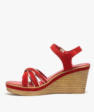 Sandales femme à talon compensé et détails métallisés vue3 - GEMO(URBAIN) - GEMO