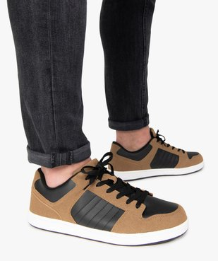 Baskets homme basses à lacets style skate shoes vue1 - GEMO (HOMME) - GEMO