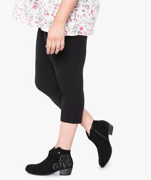 Legging femme uni longueur 7/8e vue3 - GEMO (G TAILLE) - GEMO