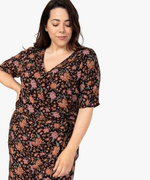 Combinaison pantalon femme à motifs fleuris et haut cache-cœur  vue6 - GEMO (G TAILLE) - GEMO