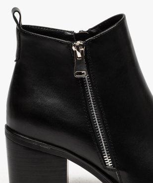 Boots femme à talon avec zip sur le côté vue6 - GEMO(URBAIN) - GEMO