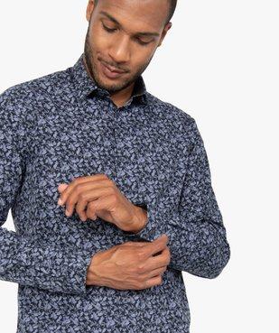 Chemise homme à manches longues à motifs repassage facile vue2 - GEMO (HOMME) - GEMO