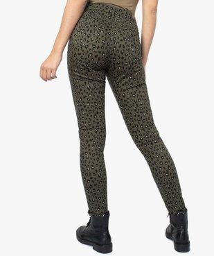 Pantalon femme coupe slim à motifs léopard vue3 - GEMO(FEMME PAP) - GEMO
