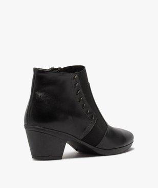 Boots femme confort à talon dessus cuir vue4 - GEMO (CONFORT) - GEMO