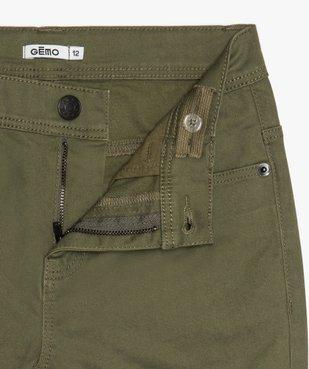 Pantalon garçon coupe skinny en toile extensible vue2 - GEMO (JUNIOR) - GEMO