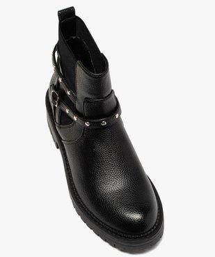 Boots femme unis à semelle crantée et bride à clous vue5 - GEMO (CASUAL) - GEMO