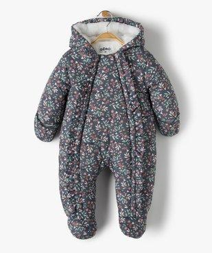 Combinaison pilote bébé avec pieds et moufles vue1 - GEMO(BB COUCHE) - GEMO