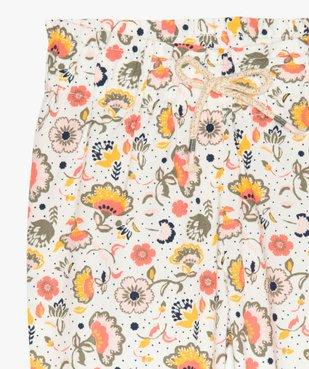 Pantalon bébé fille à motifs fleuris resserré aux chevilles vue2 - GEMO(BEBE DEBT) - GEMO