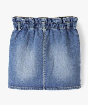 Jupe fille en jean avec taille froncée vue4 - GEMO C4G FILLE - GEMO