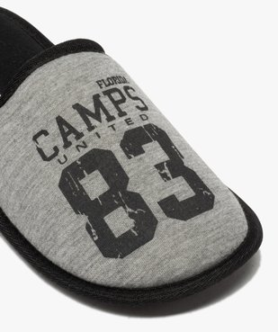 Chaussons homme mules plates en jersey – Camps United vue6 - CAMPS UNITED - GEMO