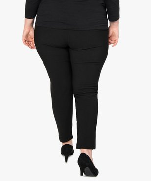 Pantalon femme carotte texturé à taille élastiquée vue3 - GEMO (G TAILLE) - GEMO