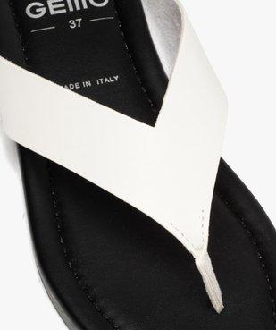 Sandales femme à entre-doigts coupe spéciale pied large vue6 - GEMO (CASUAL) - GEMO