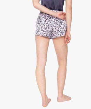 Short de pyjama femme en matière satinée imprimée vue3 - GEMO(HOMWR FEM) - GEMO