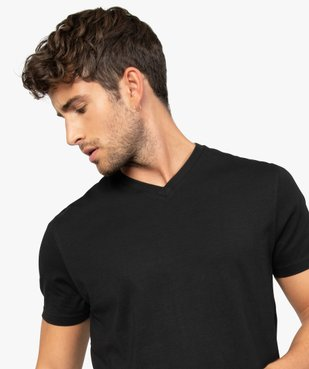 Tee-shirt homme à manches courtes et col V vue1 - GEMO (HOMME) - GEMO
