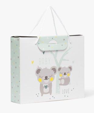 Boite cadeau bébé avec motifs pandas en papier carton recyclé vue1 - GEMO C4G BEBE - GEMO