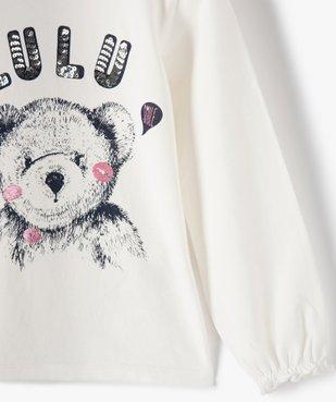 Tee-shirt fille avec motif et sequins brodés – Lulu Castagnette vue2 - LULUCASTAGNETTE - Nikesneakers