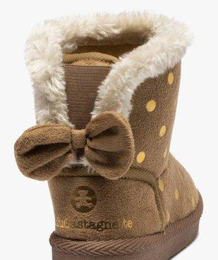 Boots d'intérieur bébé fille en suédine – Lulu Castagnette vue6 - LULU CASTAGNETT - GEMO