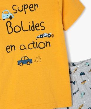 Pyjashort garçon bicolore avec motifs voitures vue2 - GEMO (ENFANT) - GEMO