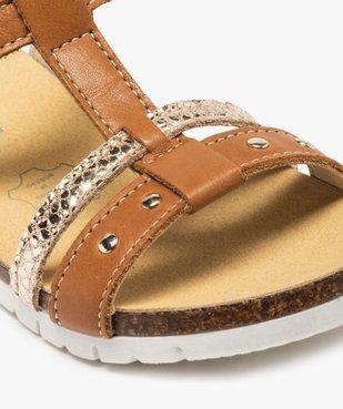 Sandales fille dessus cuir à semelle contrastante - Bopy vue6 - BOPY - GEMO