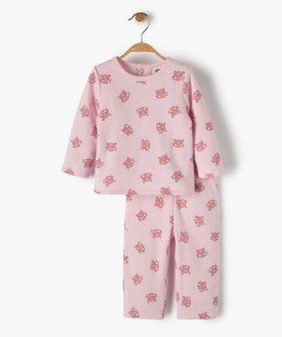 Pyjama bébé fille 2 pièces imprimé chats vue1 - GEMO(BB COUCHE) - GEMO