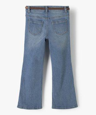 Jean fille coupe bootcut avec ceinture pailletée vue5 - Nikesneakers (ENFANT) - Nikesneakers
