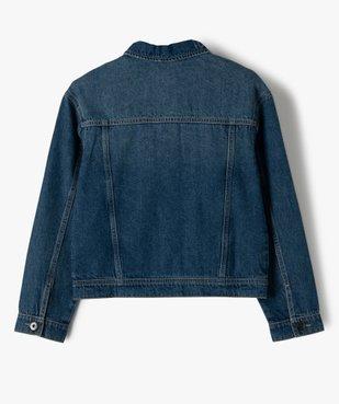 Veste fille en jean avec marques d'usures vue3 - GEMO (ENFANT) - GEMO