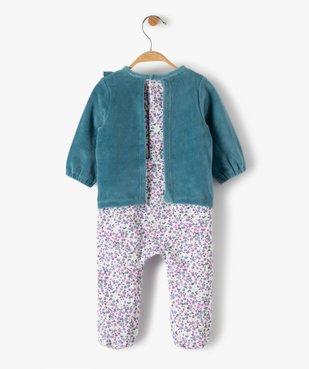 Pyjama bébé fille en velours effet 2 en 1 vue5 - GEMO(BB COUCHE) - GEMO