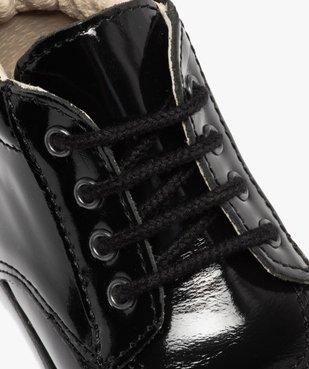 Chaussures premiers pas bébé fille à lacets dessus cuir verni vue6 - Nikesneakers(BEBE DEBT) - Nikesneakers
