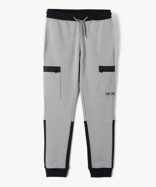 Pantalon de sport garçon en molleton à poches latérales vue1 - GEMO (ENFANT) - GEMO