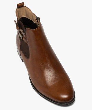 Boots femme unis à talon plat dessus cuir – Pierre Cardin vue5 - PIERRE CARDIN D - GEMO