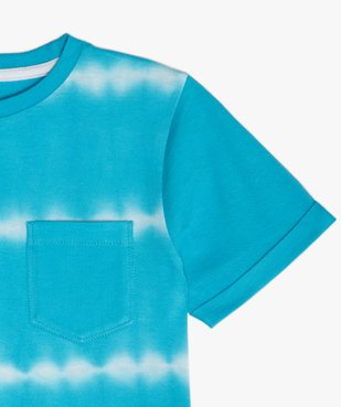 Tee-shirt garçon à manches courtes effet tie-and-dye vue2 - GEMO (ENFANT) - GEMO