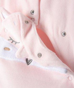 Pyjama bébé fille en velours à motif renard vue4 - GEMO C4G BEBE - GEMO