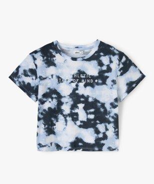 Tee-shirt fille imprimé avec inscriptions brodées vue1 - GEMO (JUNIOR) - GEMO